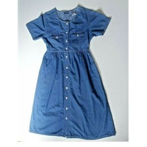 Vintage Denim dress Erika and Co Midi